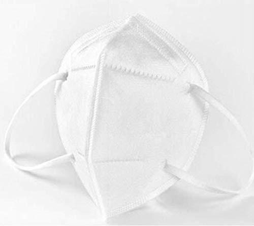 Imtech Maschera 2 pezzi I Maschera bianca - con Ferretto Naso regolabile individualmente I Mascherina 100% traspirante e adatta per occhiali I Maschera antipolvere con filtraggio delle particelle