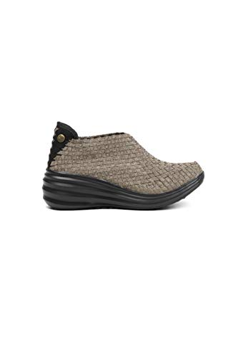 B M BERNIE MEV NEW YORK Rise Gem Heel Wedge - Zapatilla de cuña de 6cm para Mujer, Marrón (Bronze), 41 EU