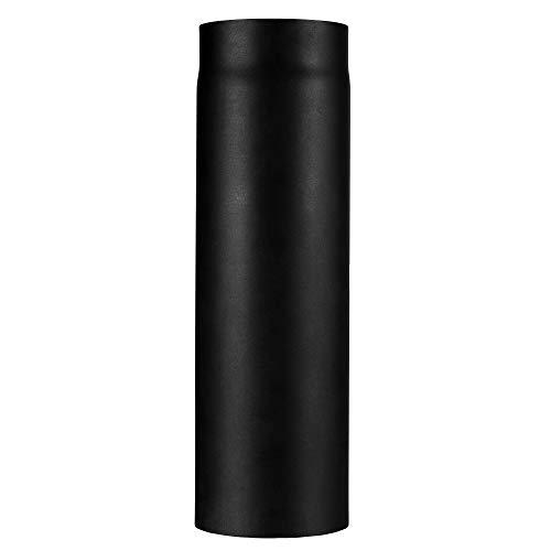 Ofenrohr Kaminrohr I matt dunkelgrau schwarz I 500 mm lang I 150 mm Durchmesser l Abgasrohr Zubehör zum Tauke Rauchrohr Set I Profi Zubehör mit Senotherm Lack Beschichtung und Tauwechsel System