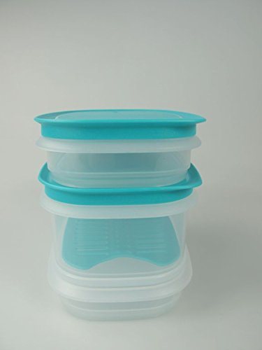 TUPPERWARE Cool`N Fresh Junior 640ml (1)+260ml (2)+Gitter türkis (1) +Deckel (2) 7705