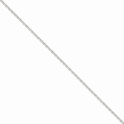 14k WG 2.5mm D/C Cable Chain, Best Quality Free Gift Box