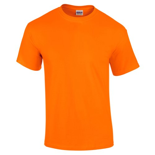 GildanT-shirt d'été basique à manches courtes pour homme- Orange Orange fluo (Safety Orange) XL