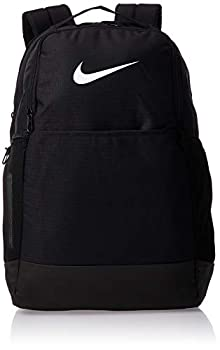 Nike Brasilia Medium Training Backpack Nike Backpack for Women and Men with Secure Storage & Water Resistant Coating Black/Black/White