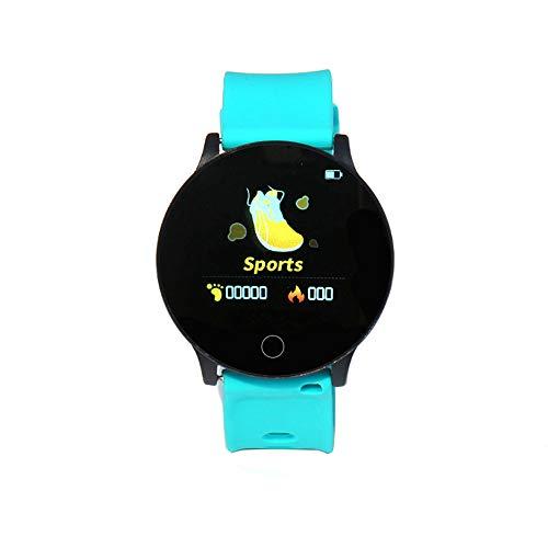 KOBEY Fitness Tracker, hombres y mujeres deportes impermeable reloj inteligente medición en tiempo real de la presión arterial, oxígeno en la sangre, frecuencia cardíaca, negro, color Verde