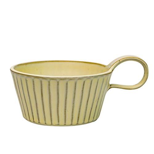 Coffee Mug, Ceramic Soup Mugs with Handles, 12 Oz Wide Large Coffee Mugs Set of 2, Mug for Soup, Latte, Tea, Cappuccino (Color : Beige)