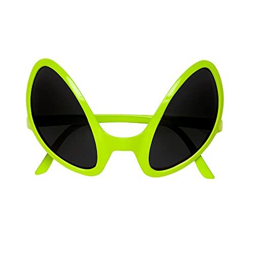 Widmann 0347O - Brille von Außerirdischem, Accessoire, Halloween, Mottoparty, Karneval