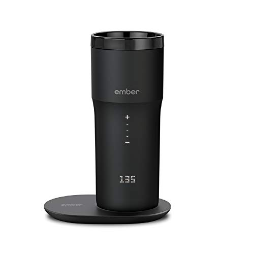 NEW Ember Temperature Control Smart Mug 2, 12 oz, Black, 3-hr Battery Life - App Controlled Heated Coffee Travel Mug - Improved Design