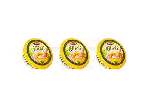 Salsa Allioli pack 3 unidades de 200ml, alioli (600ml en total)