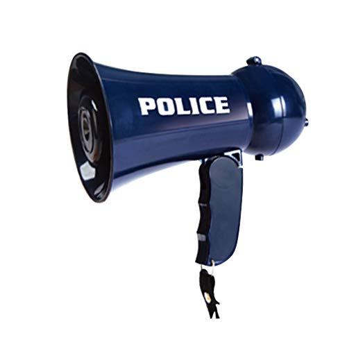 Gadpiparty Disfrazar Juguetes de Polica Simular Que Los Policas Juegan con Megfono con Sonido de Sirena para Nios (Sin Pilas)