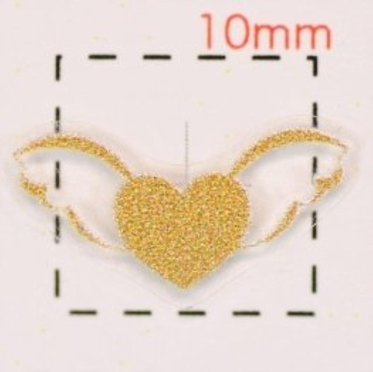 ミリメートル性的海外3Dネイルシール【ロココ(モロッコ)調】天使の羽根(2)ピンクゴールド1シート8枚入