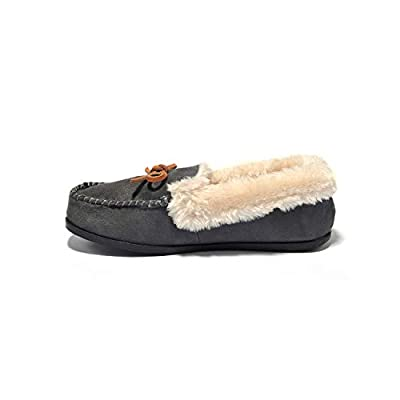 Amazon - Save 70%: Breifola Women's Faux Fur Lined Memory Foam Moccasin Slippers Shoes