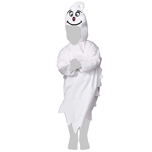 com-four® Disfraz de Fantasma para niños - Disfraz de Halloween Fantasma con Capucha - Disfraz de Fantasma para niños y niñas, 110 cm (110cm)