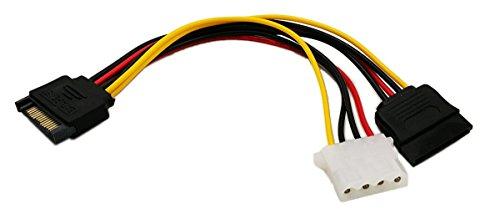 zdyCGTime- Cable de alimentación SATA de 15 Pines a Molex de 4...