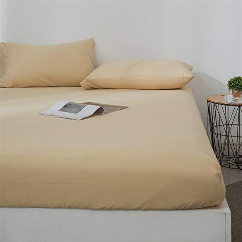 Revestimientos de cama Hoja ajustada Cubierta de colchón Sólido Color lijado Ropa de cama Sábanas Sábanas con banda elástica Doble tamaño de reina Tamaño 1 PCS Hojas de bolsillo profundas suaves y cóm