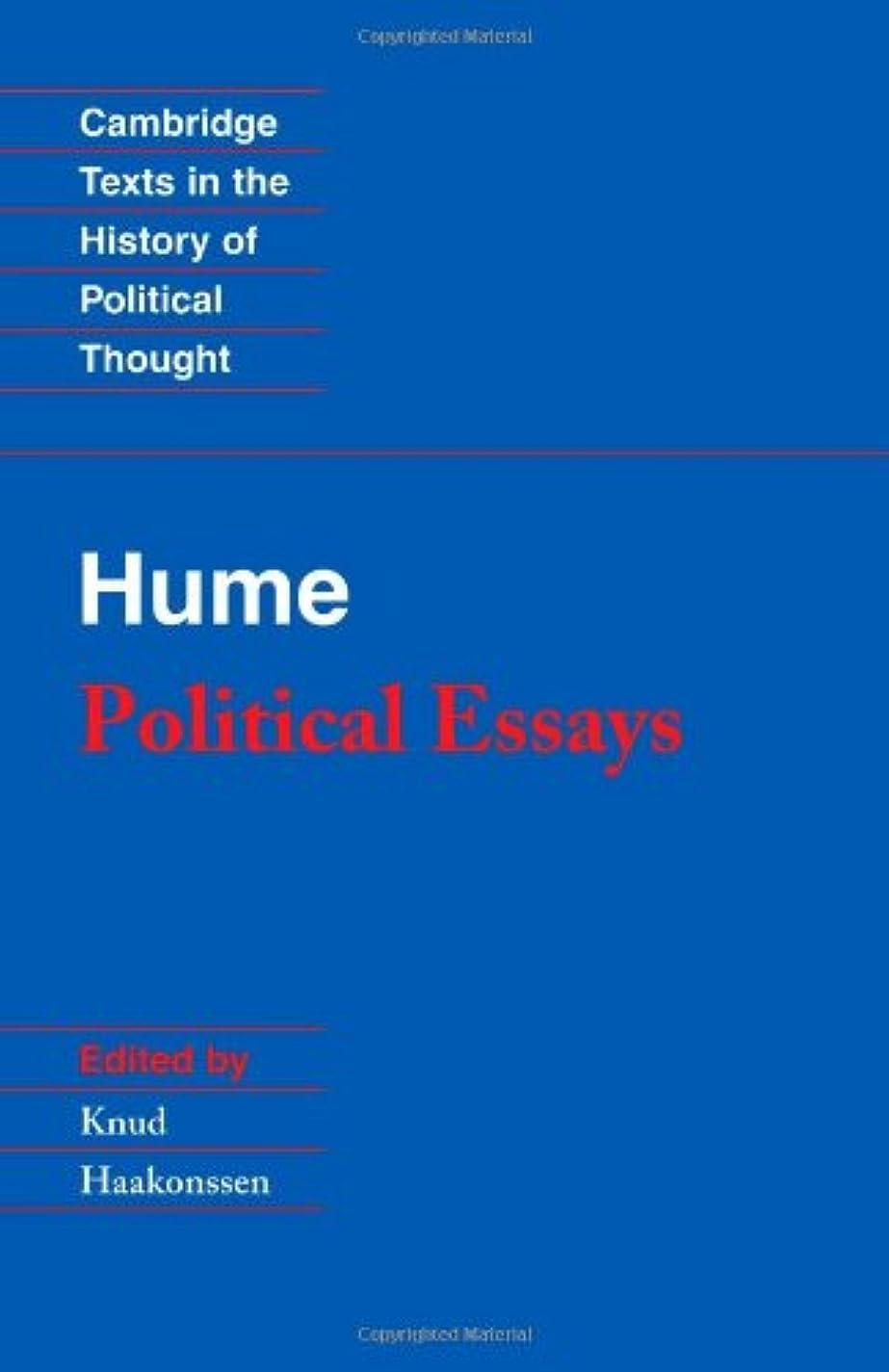 実行するセンチメンタル工業用Hume: Political Essays (Cambridge Texts in the History of Political Thought)