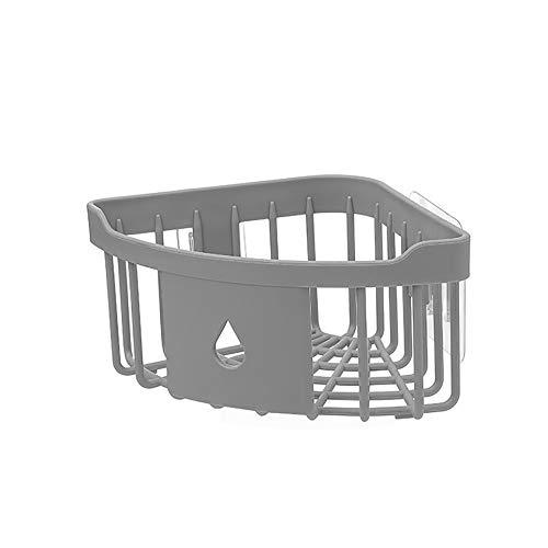 VECDY Duschregal Eckregal Ohne Bohren, Duschablage Ecke 1Etagen - ABS Plastic Eckablage Dusche Organizer Seifenschampoo Duschgel Ablagefach