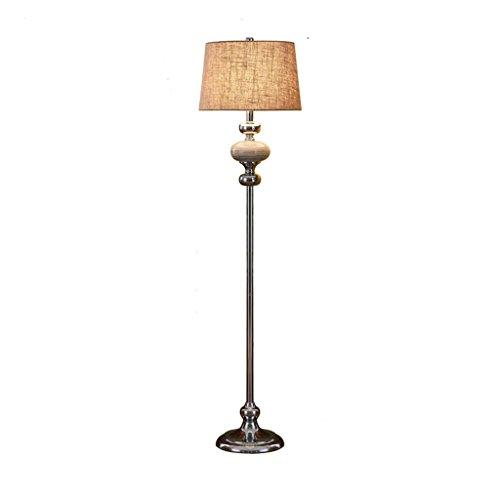 MMM- Nouvelle lampe de plancher chinois Salon Chambre à coucher Lampe de table verticale Simple moderne étude nordique (Couleur : Gris argent)