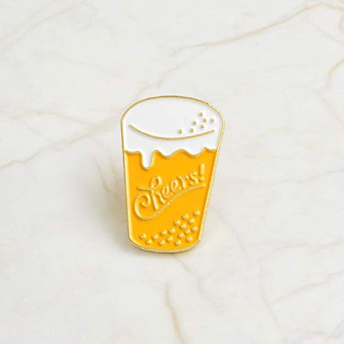 Drinken emaille bier milksap Cola Café denim jas badjas badge mode sieraden broche