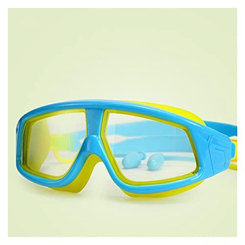 JYDZSW Gafas de natación Big Frame Kids Natación Gafas Anti-Niebla UV Edad 3-16 Impermeable Niños Natación Gafas Niñas Niñas Nadar Eyewear (Color : Sky Blue)