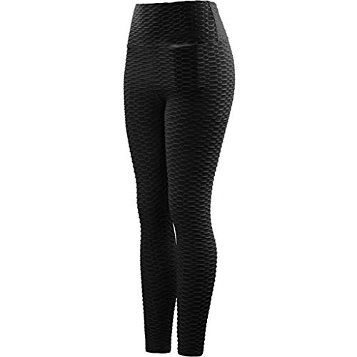 Oliviavane Damen Mode Hohe Taille Trainingshose Yogahose Fitness Laufen Yoga Hosen Frauen Workout Pocket Pant Leggins Running Stretch Slim Fit Sporthose Strumpfhosen
