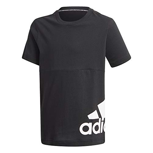 adidas Performance Must Haves Badge of Sport Big Logo Trainingsshirt Kinder schwarz/weiß, 152