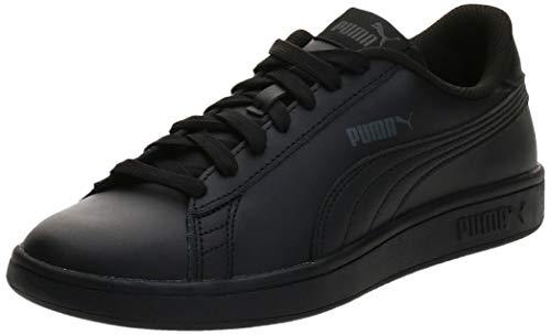 PUMA Unisex Kinder Smash v2 L Jr Sneaker, Black Black, 35.5 EU