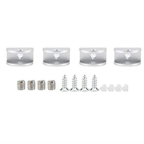 KSTE 4 stuks aluminium glazen klemmen raamhouder bevestiging boog houder voor dikte 5 – 8 mm S
