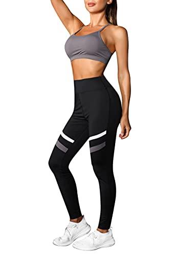 Wayleb Conjuntos Deportivos Mujer Verano Conjunto Chandal Mujer Completo 2 Piezas Set Sujetadores Deportivos con Almohadillas y Leggings Suaves de Cintura Alta para Yoga Pilates Fitness