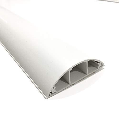 SCOS Smartcosat SCOSKK250 2 m Habrund Kabelkanal (L x B x H 2000 x 75 x 20 mm, PVC, Fußboden, Kanal, Selbstklebend) weiß