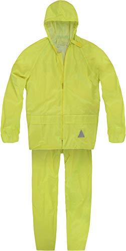 normani Unisex - Erwachsene Regenanzug (Jacke und Hose) - 100% wasserdicht Farbe Gelb Größe L