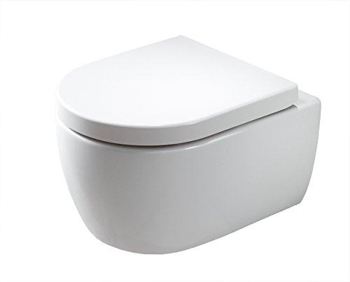 Spülrandloses Wand-Hänge WC NANO NT2039 - inkl. Softclose-Deckel, Softclose-Sitz:Mit Standard LED-Nachtlicht