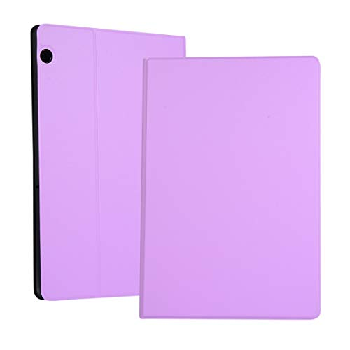 Liluyao Más Casos para Tableta Funda elástica de Color sólido Izquierda y Derecha, con Soporte, Carcasa Inferior de TPU for Huawei T5 de 10.1 Pulgadas (Color : Púrpura)