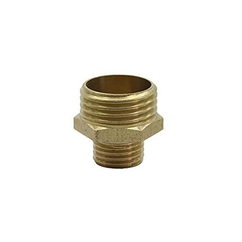 Conexión de agua de pulverización 1/2'a 1/4' Conector roscado reducido Conector de boquilla de rotación de invernadero Sistema de riego del jardín Conector de tubería 8 (Color : Brass)