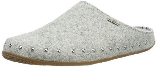 Living Kitzbühel Damen Pantoffel Filz mit Nieten mit Fußbett Pantoffeln, Grau (Nebel 0622), 42 EU