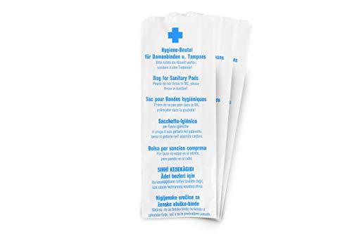 Funny Papier Hygienebeutel, weiß, zu 100 Stück gefädelt, 10er Pack (10 x 100 Stück)