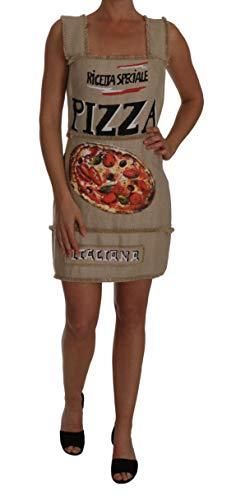 Dolce & Gabbana Pizza-Kleid, A-Linie, Beige - Beige - X-Groß