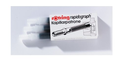 Rotring Rapidograph cartuchos de tinta capilares, rojo (caja de 3)