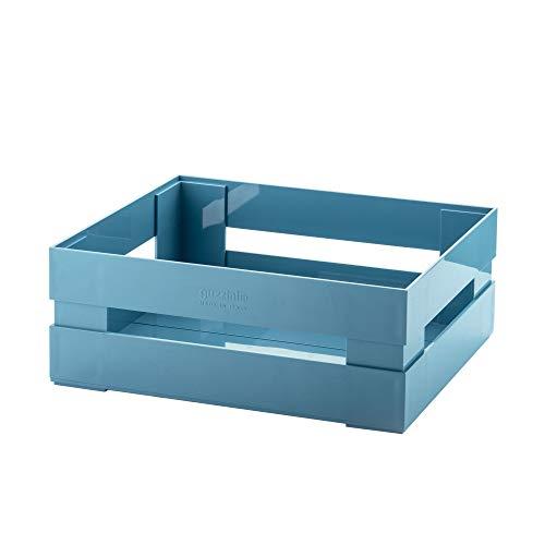 Guzzini Cassetta, Grande Kitchen Active Design, Blu Opaco Scuro, 30.5 x 22.5 x h11.5 cm