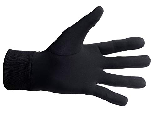 Medium ONLY. 100% Pure Silk Thermal Liner Gloves Inner for Bikers, Skiers, Dog Walkers, Cyclists, Fishermen, Gardeners and All Outdoor Activities.