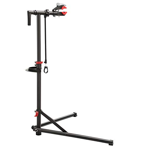 SONGMICS Bike Repair Stand Rack, Heavy-Duty and Sturdy Maintenance Stand with 2 Legs, Quick Release Handles, Welded Steel Head with 360 Degree Adjustment Clamp, Black SBR07B