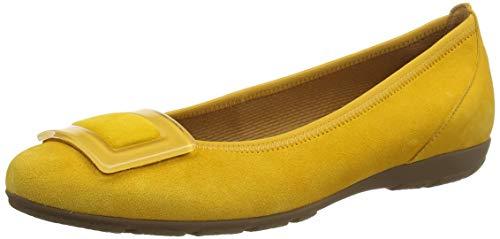 Gabor Shoes Damen Casual Geschlossene Ballerinas, Gelb (Mango 13), 42 EU