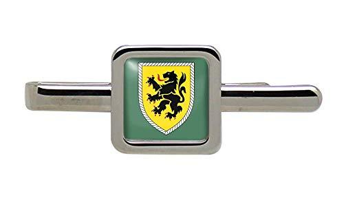 Giftshop UK 10. Panzerdivision Bundeswehr (Deutsche Armee) Quadratisch Krawatte Clip