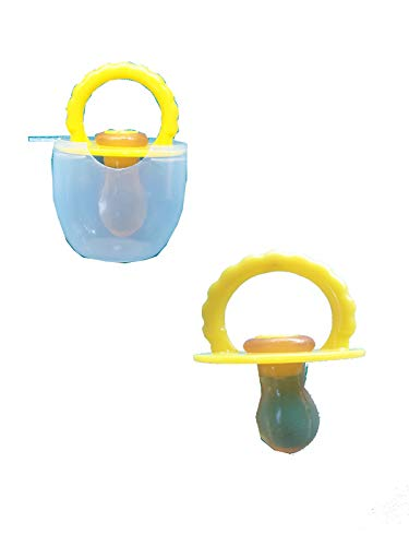 advancedestore Baby Food Feeder, Reusable Fresh Fruit Feeder Pacifier BPA-Free ISO certifiedInfant Teething Toy LUCKY BABY CUP SOOTHER pack of 2