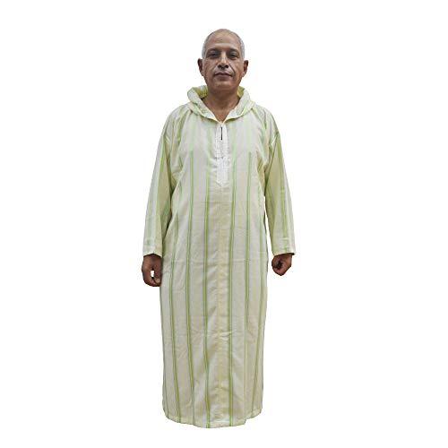 Horus Artesanía de Egipto Chilaba nº 2, GAL.LABA, túnica,Hombre Modelo marroquí, árabe, con Capucha, Mide 69 cm de sisa y 139 de Largo