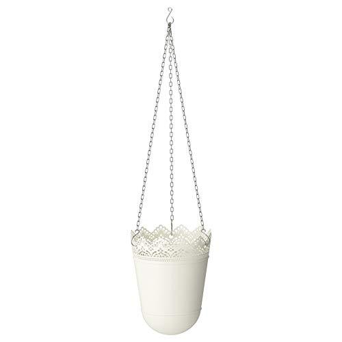 IKEA ASIA SKURAR - Maceta Colgante, Color Blanco