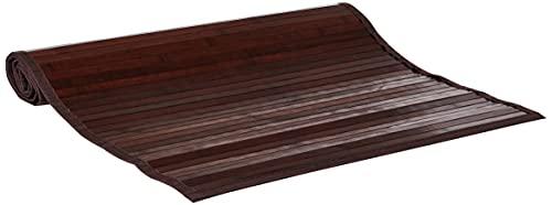 iDesign tapis de bain, grand tapis cuisine, couloirs, salle de bain ou toilettes en bambou, tapis de cuisine ou de salle de bain étanche, brun moka