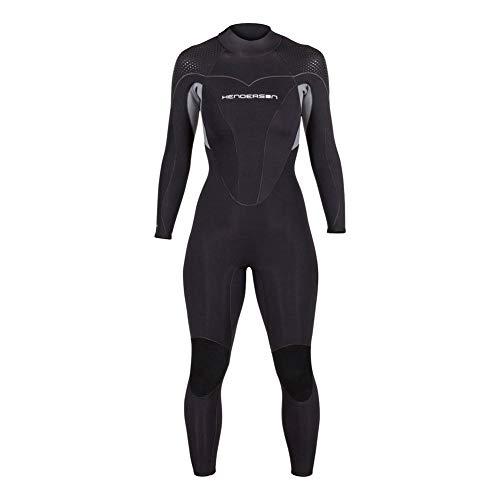 Women's Thermoprene Pro Wetsuit 5mm Back Zip Fullsuit Black