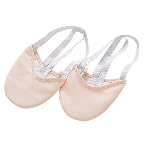 kangOnline Calcetines Suaves de Punto Medio Zapatos de Puntera de Gimnasia rítmica Zapatos de protección para pies de Baile elásticos Accesorios de salón de Baile para niñas