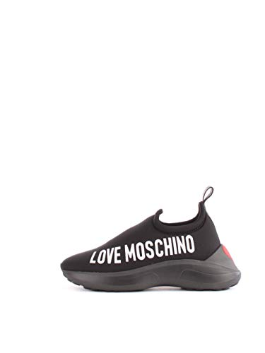 Love Moschino Chaussures pour Femmes Baskets à col Montant JA15206G18IO000A Taille 38 Black