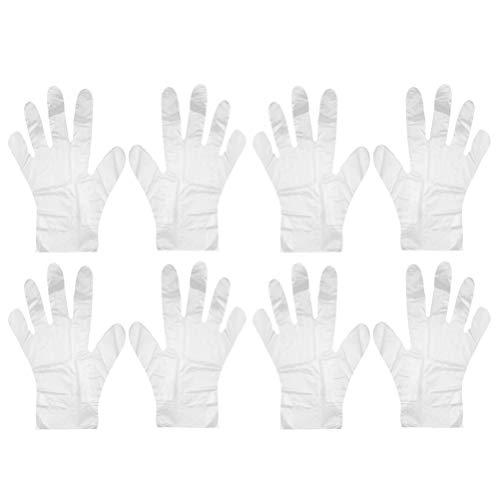 Minkissy Einweg-Plastikhandschuhe 1000 Stück Einweghandschuhe für Die Zubereitung von Nahrungsmitteln. Klare Plastikhandschuhe für Die Haarfärbung Kochreinigung